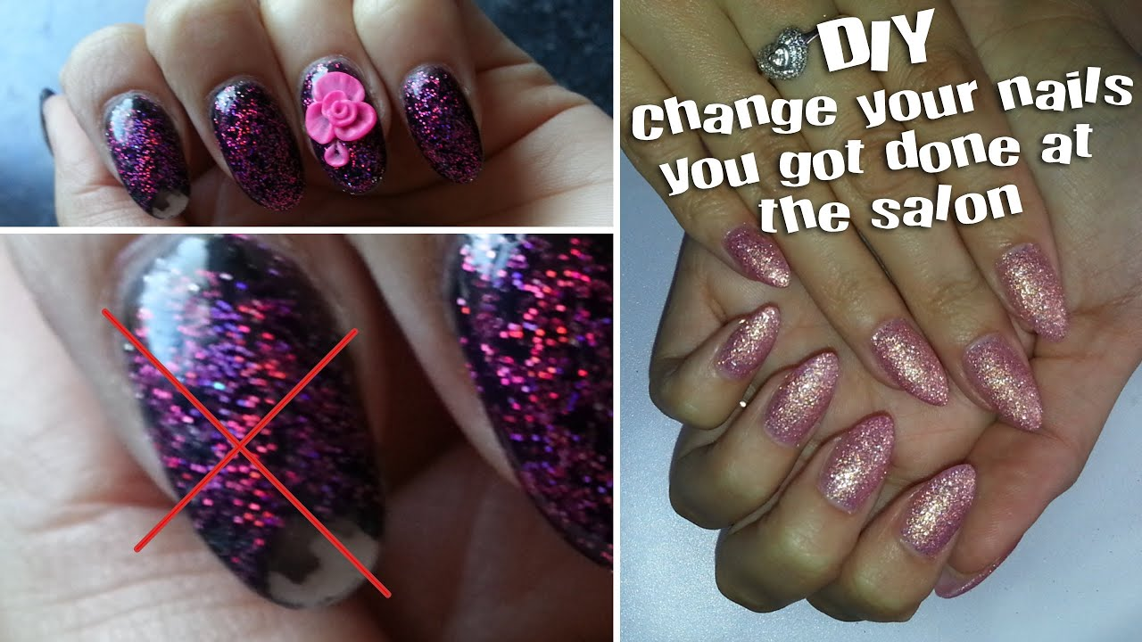 DIY|Acrylic Nails|How to Change your design&shape| Easy - YouTube