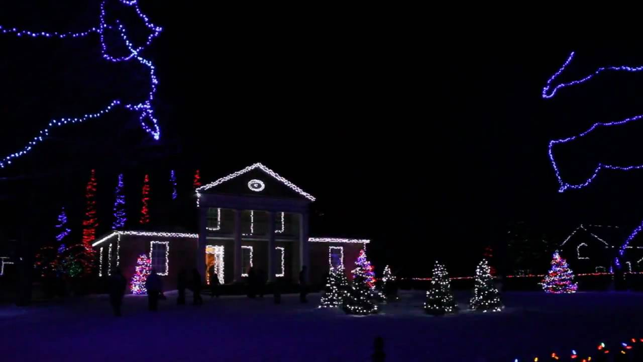 Night lights upper canada village - Upper Canada Village Sound Christmas Light Show