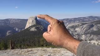 Fighter Jet Flies Past Half Dome in Yosemite National Park