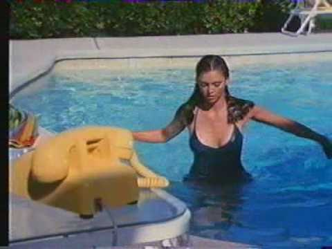 Victoria Principal  Blue Swimsuit Dallas