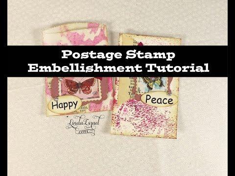 Postage Stamp Embellishment Tutorial