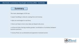 electronic commerce topology and security summary