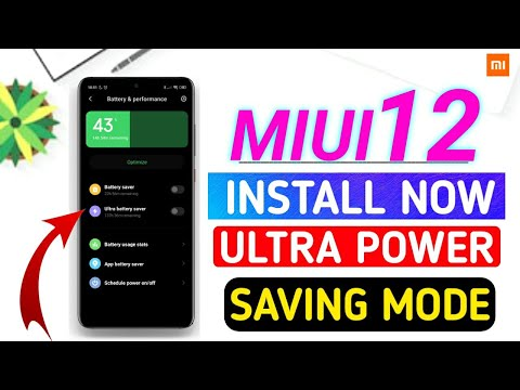 ENABLE OFFICIAL MIUI 12 ULTRA POWER SAVING MODE   MIUI 12 SECURITY APP UPDATE NOW