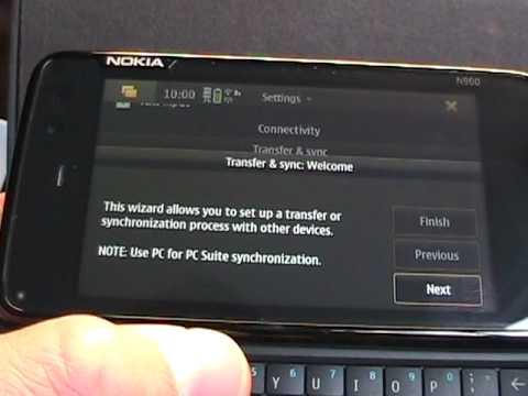 Settings on the Nokia N900