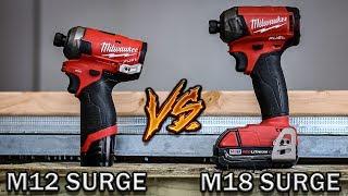 Best hydraulic Impact Driver Milwaukee Tool Test M18 Fuel Surge VS M12 Fuel Surge MP3