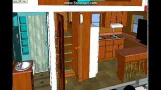 Tiny House, The Cabin, 16 Foot Tiny House, Sketchup Tiny  House Design