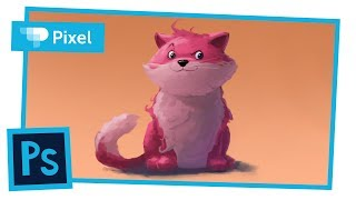 Рисуем кота в Adobe Photoshop | уроки для новичков