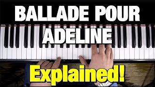 BALLADE POUR ADELINE - PIANO TUTORIAL- CLAYDERMAN