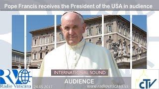 بابا الفاتيكان يمازح ميلانيا بشأن 'بيتزا' ترامب(فيديو)