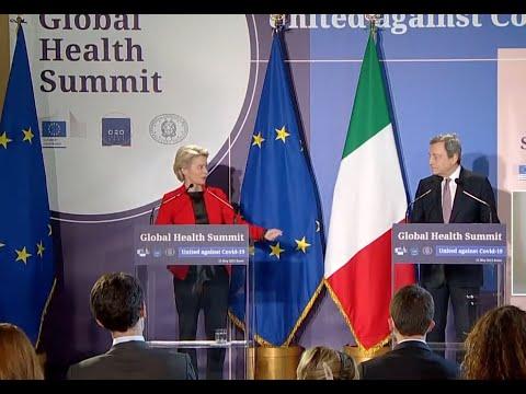 Ursula von der Leyen a Draghi: le domande di economia le lascio a te