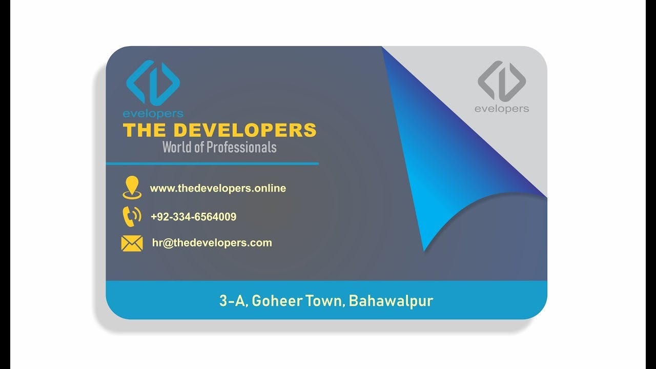 How to design professional business card in coreldraw visiting how to design professional business card in coreldraw visiting card design reheart Image collections