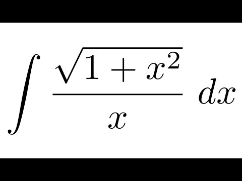 Integral of sqrt(1+x^2)/x (substitution + partial fraction decomposition)