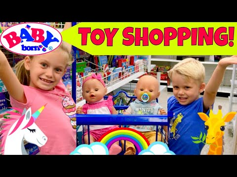 🛍Baby Born Twins Go Toy Shopping At Ross, T.J. Maxx & Target Store With Skye & Caden! 🚗