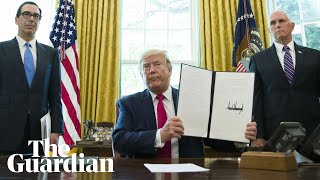 Donald Trump announces 'hard hitting' sanctions targeting Iranian leader
