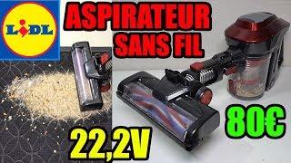 aspirateur lidl sans fil polyvalent silvercrest 22 2v vacuum cleaner cordless akku staubsauger