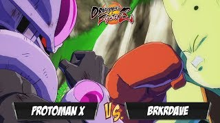 Protoman X(Cooler/Broly/Android 16) Fights BRKRDave(Ginyu/Majin Buu/Nappa)[DBFZ]