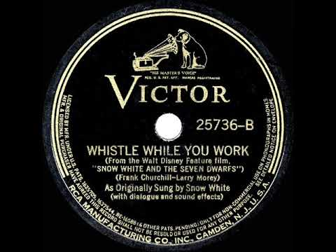 1938 HITS ARCHIVE: Whistle While You Work - 'Snow White' movie cast (Adriana Caselotti)