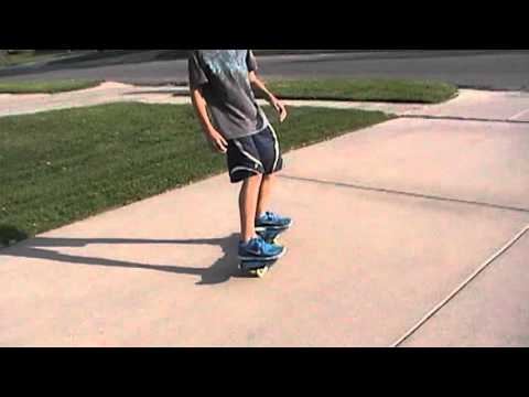 How to get on and ride a ripstik for beginners - YouTube