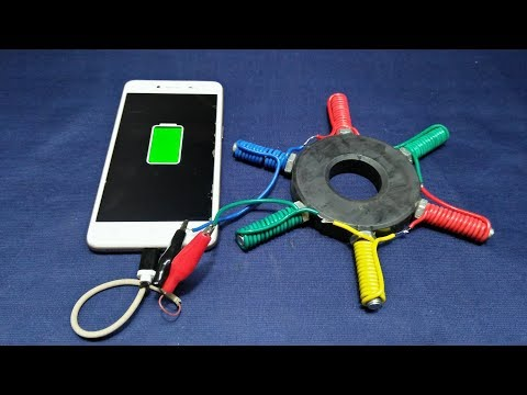 Free Energy Generator Magnet 100% Using Light Bulb And Mobile Charger Real New Technology New Idea P thumbnail