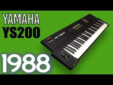 YAMAHA YS200 Synthesizer 1988 | HD DEMO | FM Synthesis