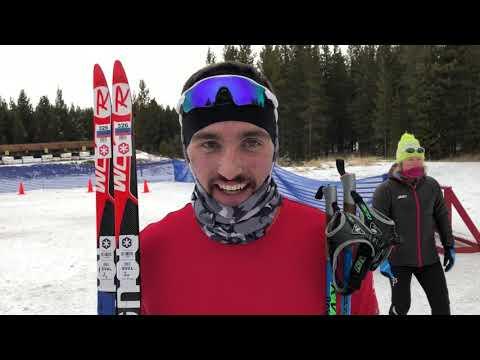 Nick Michaud, winner of the West Yellowstone SuperTour skate sprint
