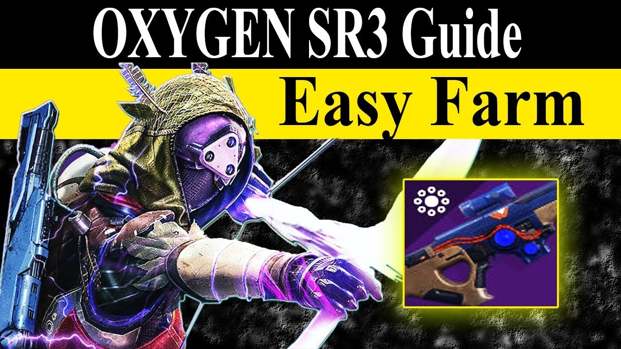 Destiny 2: How-to Get Oxygen SR3 Scout Rifle (Pinnacle Weapon