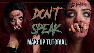 DON'T SPEAK - Halloween Makeup Tutorial | #spooktober