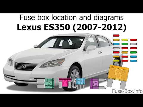 [DIAGRAM_38ZD]  Fuse box location and diagrams: Lexus ES350 (2007-2012) - YouTube | Lexus 2005 Es330 Fuse Box Location |  | YouTube