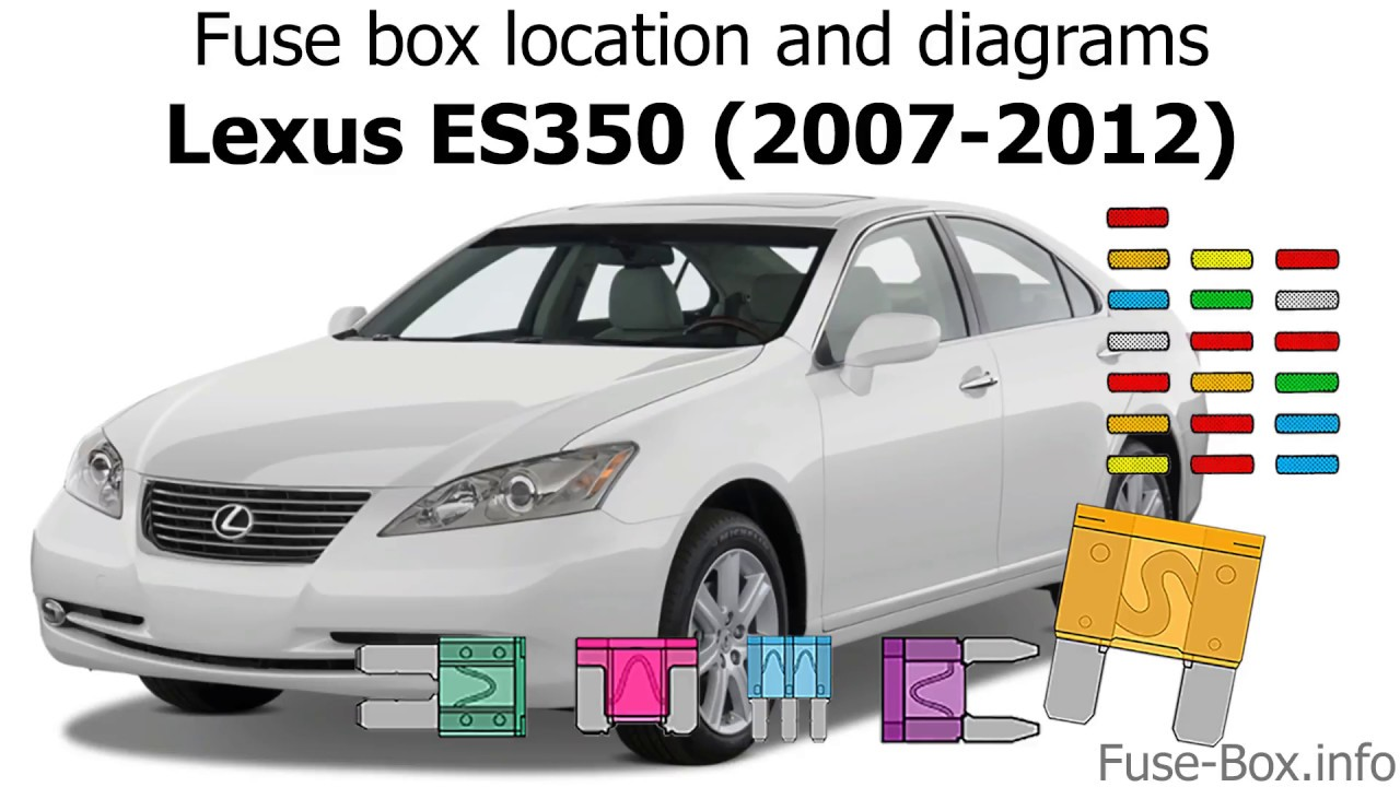 fuse box location and diagrams lexus es350 2007 2012 lexus es 350 fuse diagram lexus es 350 fuse diagram [ 1280 x 720 Pixel ]