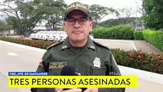 Asesinan a tres hombres y los abandonan dentro de un carro en Norte de Santander