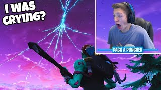 REACTING to the ROCKET LAUNCH in FORTNITE! SEASON 5 MAP CHANGES HINTED! (Fortnite Battle Royale)