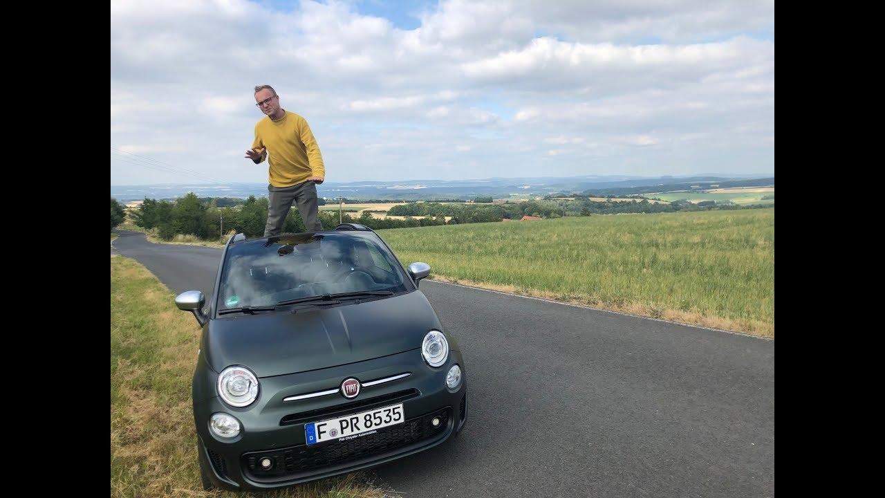 fiat 500c rockstar 69 ps fahrbericht full review pov test drive 2020 cabrio youtube