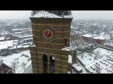 Winter in Sassenheim   Aerial Footage Holland