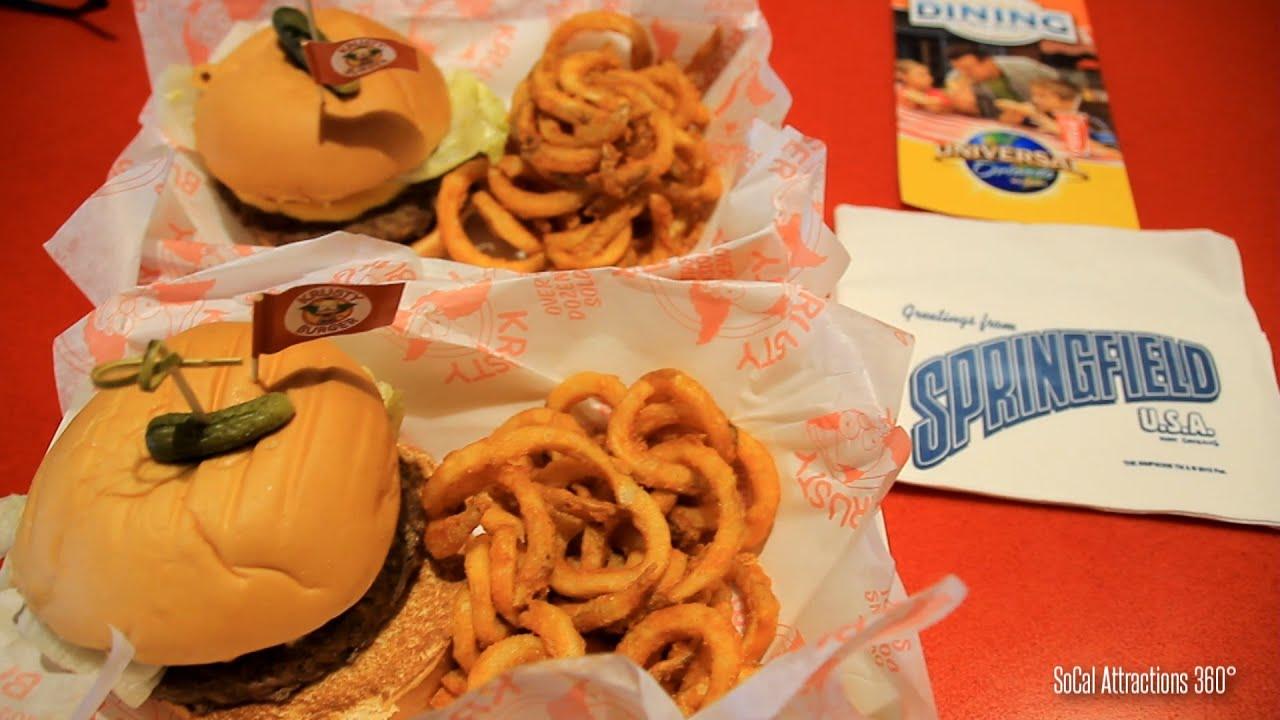 Universal Studios Food Menu