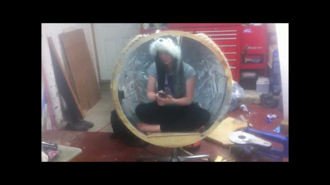 homemade egg chair please see other videos as to how it