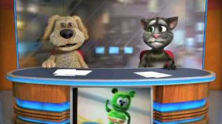 Talking Tom & Ben News the gummy bear song
