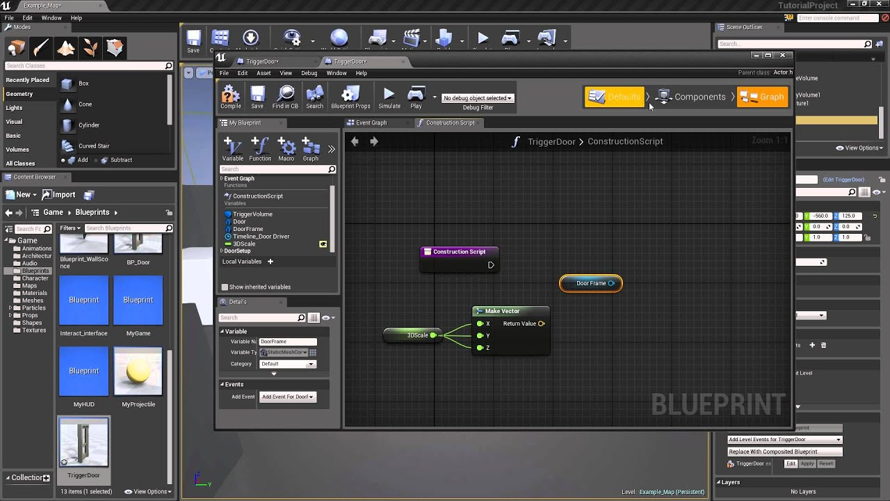 Unreal engine 4 blueprint 4 blueprint unreal engine 4 blueprint 4 blueprint scaling via blueprint youtube malvernweather Image collections