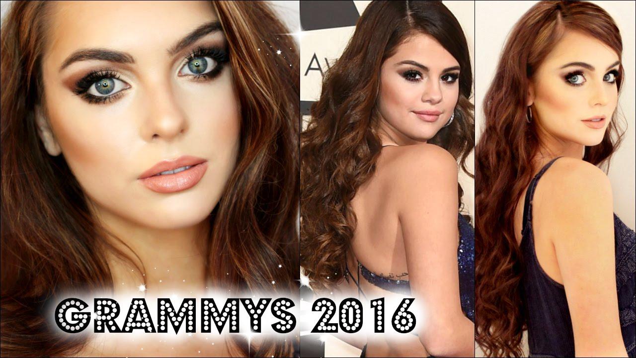 Selena Gomez Grammys 2017 Makeup Hair Tutorial Jackie Wyers You