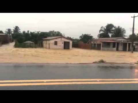 Chuva forte em Jandaira no Rio Grande do Norte
