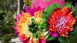 Бумажные цветы своими руками(Смотрите больше - http://portnoyy.justclick.ru/ - Cамый подробный и легкий в освоении ВИДЕО КУРС кройки и шитья для начинаю..., 2013-10-13T12:20:59.000Z)