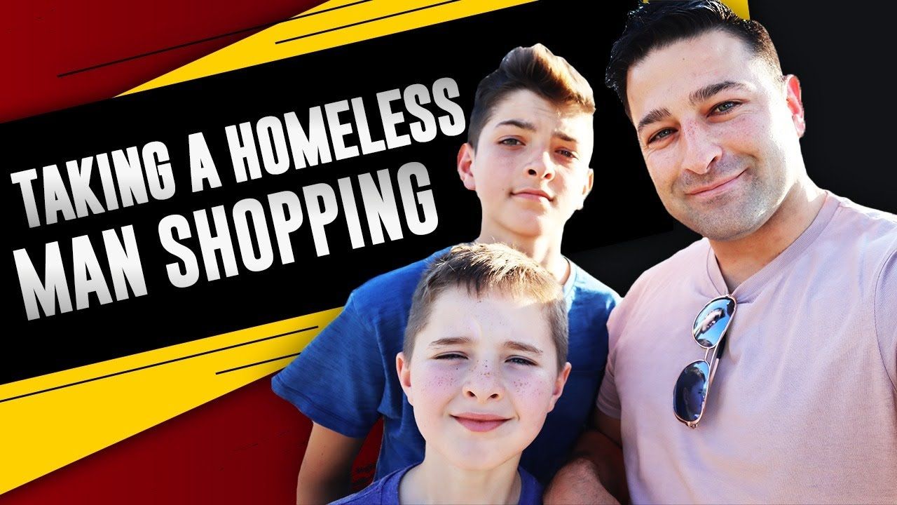 Buying a homeless man clothes