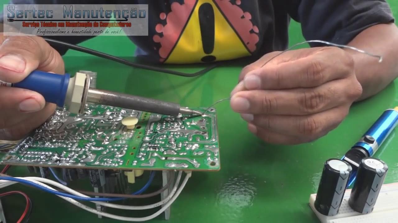 Srie Eletrnica Bsica Como Soldar Componentes Eletrnicos Placa De Circuito Alta Qualidade Com Os Dedos Pinos E Circuitos
