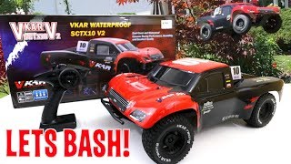 UNBOXING & BASHING! -  SCTX10 V2 - EPIC JUMP! - Short Course Truck - Vkar Racing FULL REVIEW
