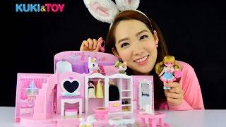 [쿠키토이]프린세스 프링과 함께하는 ♥ 리틀 미미 핑크 가방집♥  놀이