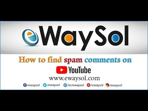 How to find spam comments on YouTube Channel | YouTube Tips | eWaySol