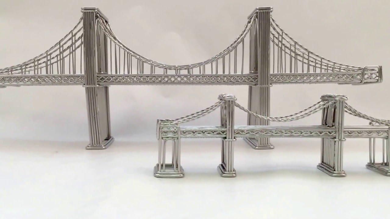 Wire Sculpture Bridge Center 256 5 Kb Gif Handymanwire Wiring A 3 Way Or 4 Switch Http Www Brooklyn Replica Statue Model Made Of Steel Youtube Rh Com Ideas