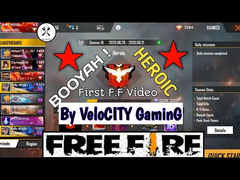 HEROIC !!! , Luckiest Gameplay ever.......😆 [ Free Fire Gameplay Hindi By VeloCITY GaminG ] # 1