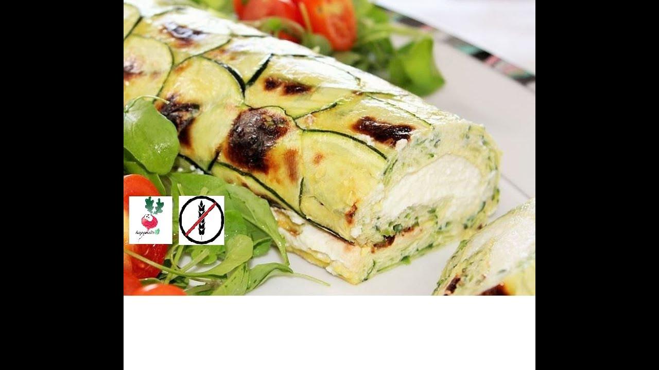 ROTOLO DI ZUCCHINE E RICOTTA ricetta facile  rotolo di zucchine ripiene senza sfoglia