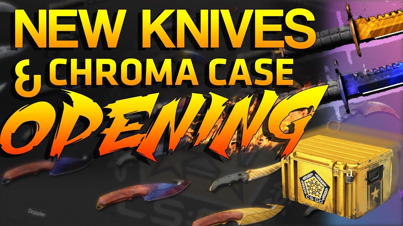Cs go chroma case opening amp new knives youtube