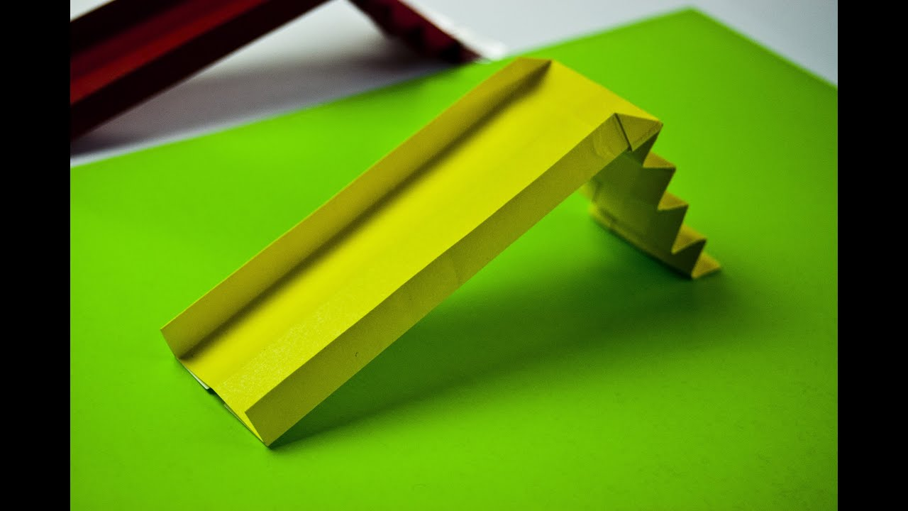How to make a paper playground slide (origami) - YouTube
